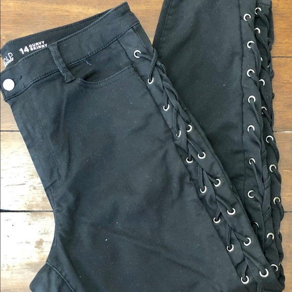 jcpenney Denim - Black jean with laces